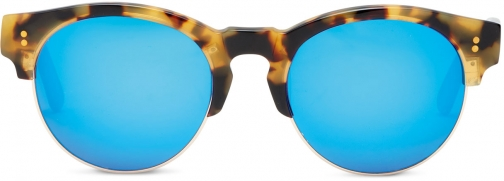 Toms Charlie Rae Havanna Brown Zeiss Polarized Brown With Deep Blue Mirror Lens Sunglasses
