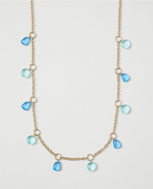 Ann Taylor Beaded Station Necklace