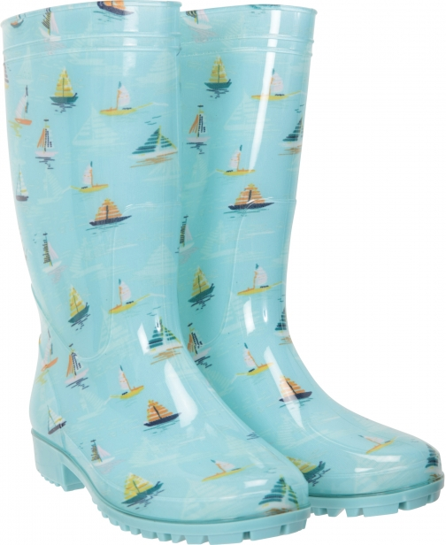 Mountain Warehouse Splash Printed Womens Wide Calf - Turquoise Welly