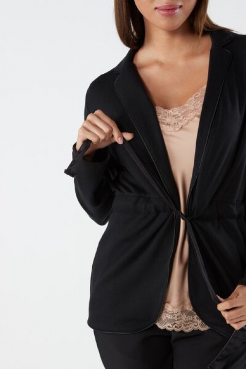 Intimissimi Modal And Cashmere Belted Woman Black Size S Cardigan