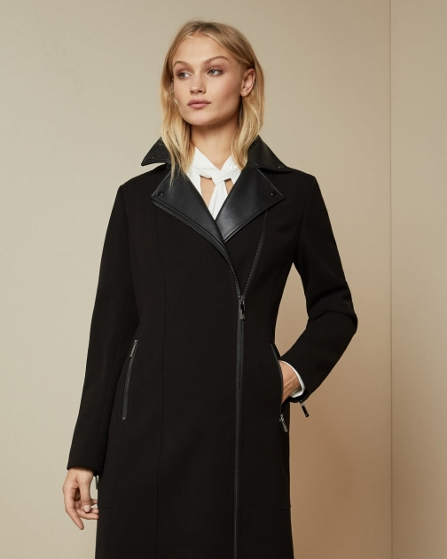 Ted Baker Collared Biker Coat Jacket