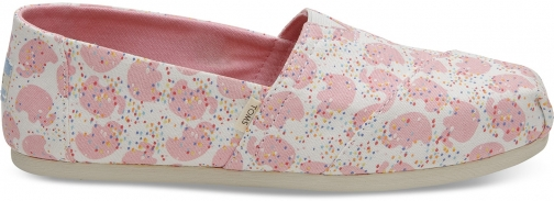 Toms Pink Tan Elephant Sprinkles Women's Classics Slip-On Shoes