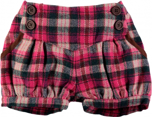 House Of Fraser Rockin' Baby Girls Pink Check Short