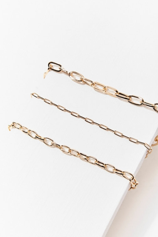 Forever21 Forever 21 Anchor Chain Necklace Set , Gold Jewellery