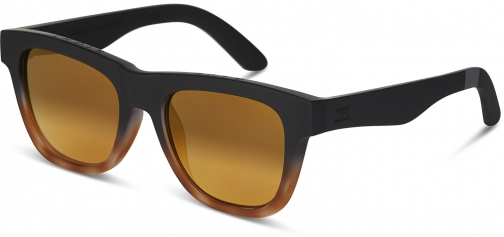 Toms Traveler By TOMS Dalston Matte Black Brown Fade With Gold Mirror Lens Sunglasses