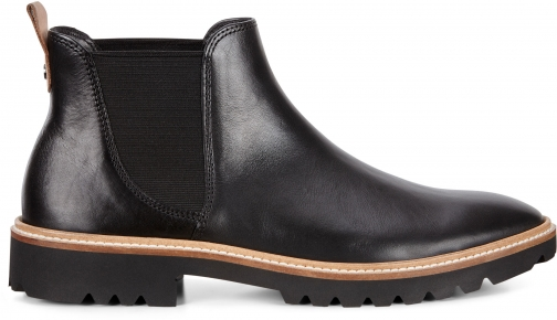 Ecco Incise Tailored Womens Size 4 Black Ankle Boot
