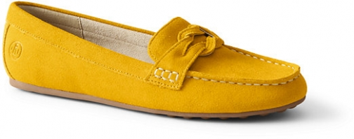 Lands' End Women's Comfort Suede Leather Slip On Loafer - Lands' End - Yellow - 6 Shoes