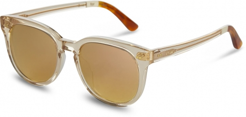 Toms Dodoma 201 Champagne Crystal With Rose Mirror Lens Sunglasses