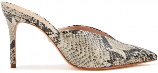 Schutz Shoes Charla Mule - 7 Stone Snake Embossed Leather Shoes