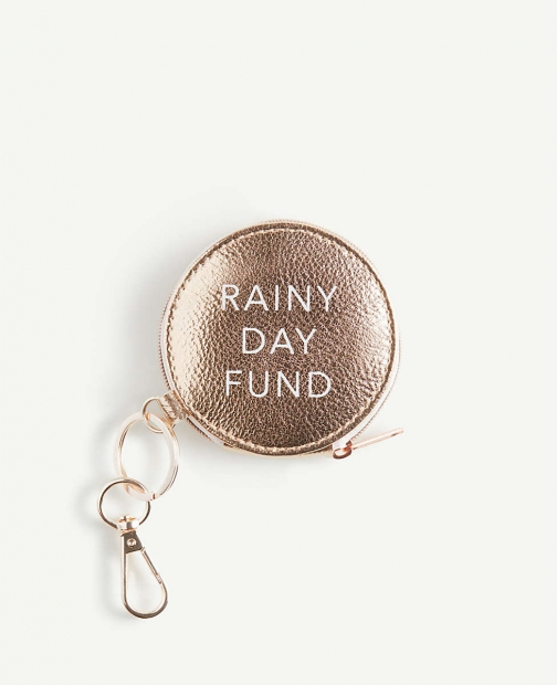 Ann Taylor Rainy Day Fund Coin Keychain Purse
