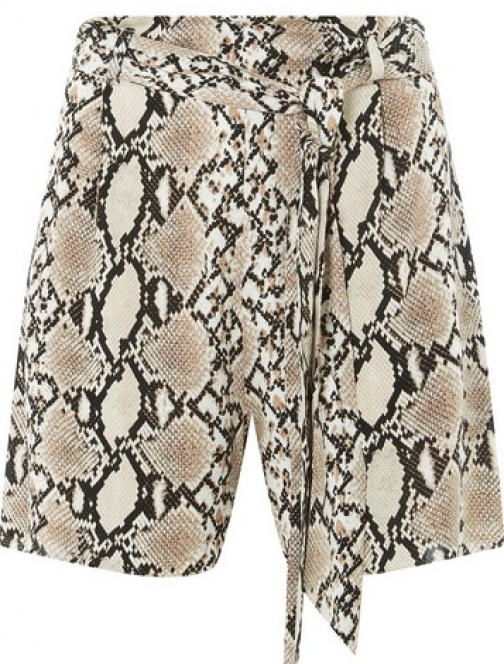 Dorothy Perkins Womens Multi Colour Snake Print - Brown, Brown Short