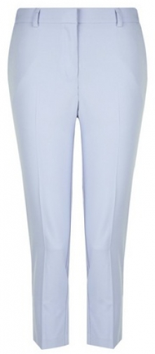 Dorothy Perkins Petite Blue Naples Ankle Grazer Trousers Trouser
