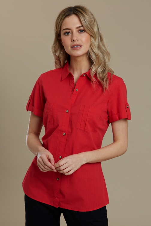 Mountain Warehouse Coconut Short Sleeve Womens - Red Shirt