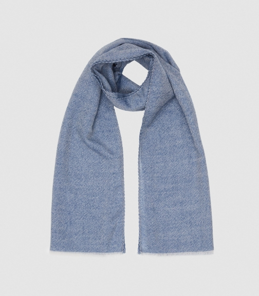 Reiss Alex - Oversized Wool Blue, Womens Scarf
