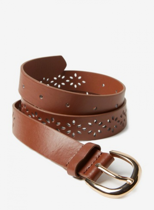 Dorothy Perkins Tan Punch Out Belt