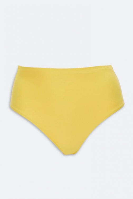 Forever21 Plus Forever 21 Plus Size High-Waist Bottoms , Yellow Bikini
