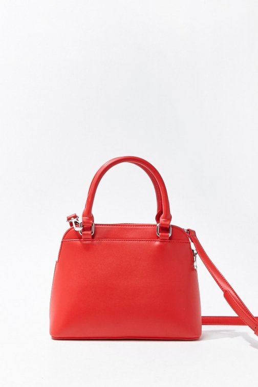 Forever21 Forever 21 Convertible Faux Leather , Red Satchel