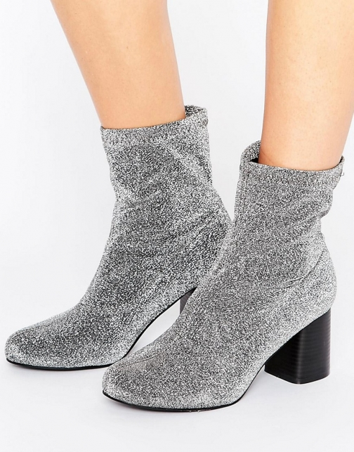 Truffle Collection Truffle Stretch Glitter Ankle Boot