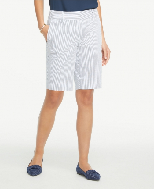 Ann Taylor Seersucker With 10 Inch Inseam Short