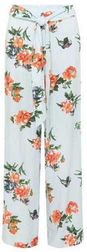Dorothy Perkins Blue And Orange Floral Palazzo Trousers Trouser