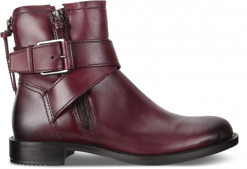 Ecco Sartorelle 25 Buckle Size 4-4.5 Bordeaux Boot