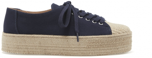 Schutz Shoes Ully Sneaker - 5 Sailfish Blue Canvas Fabric Shoes