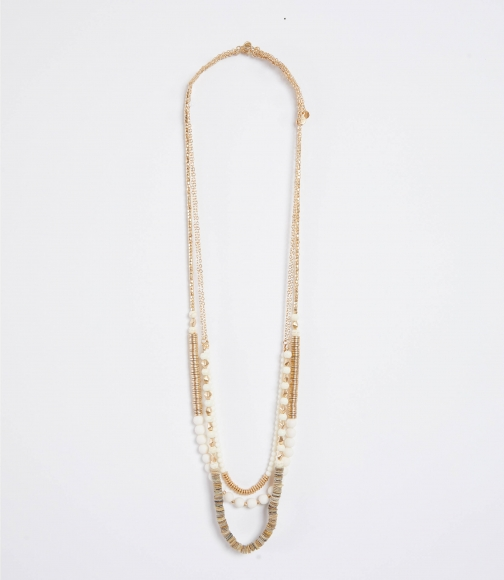 Loft Sequin Layered Beaded Necklace