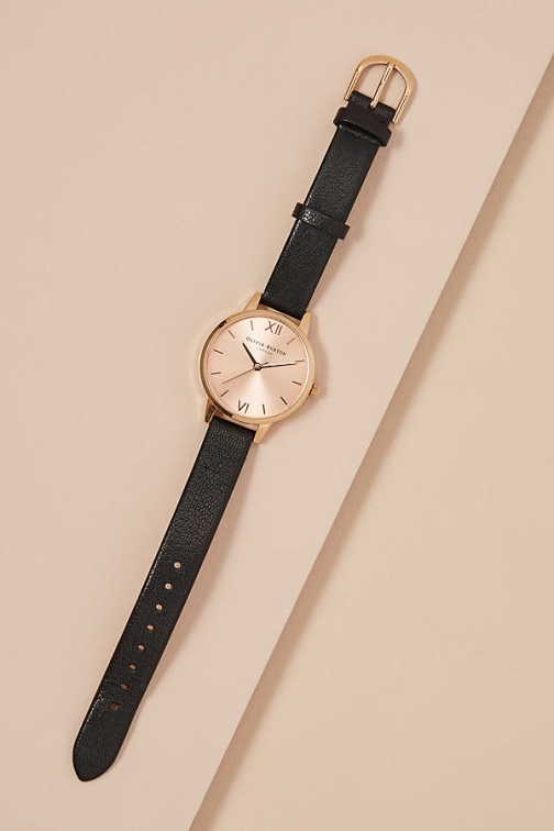 Anthropologie Olivia Burton Midi - Black Watch