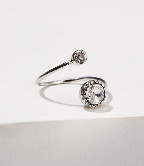 Loft Double Stone Adjustable Ring