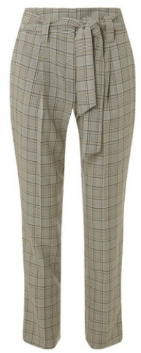 Dorothy Perkins Multi Coloured Checked Tie Tapered Trouser