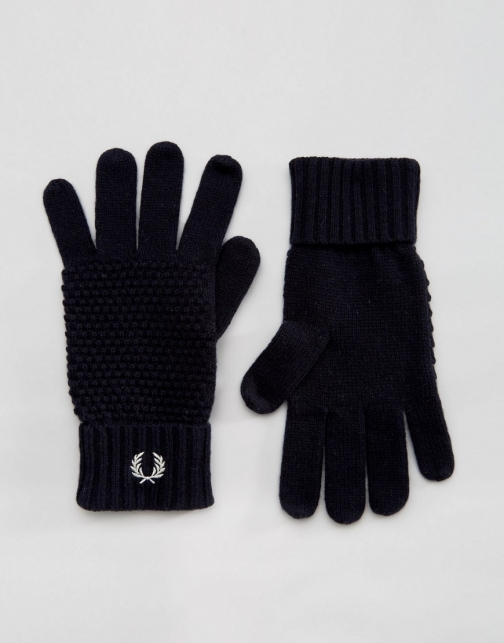 Fred Perry Pique Lambswool Glove