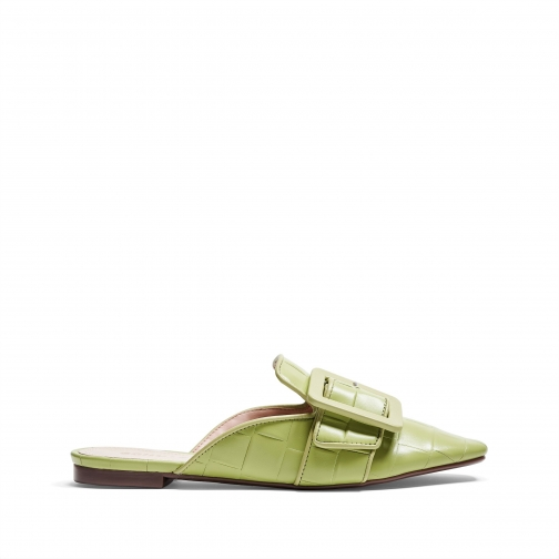 Schutz Shoes Savana Leather Mule - 6 Mellow Green Nappa Deluxe Shoes