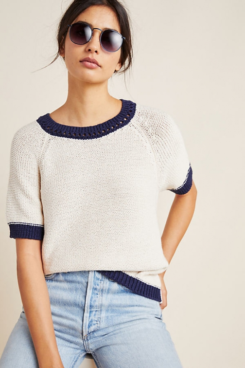 Anthropologie Anne Colourblocked Top Shirt