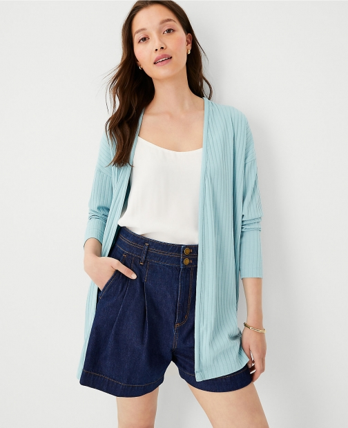 Ann Taylor Ribbed Duster Cardigan