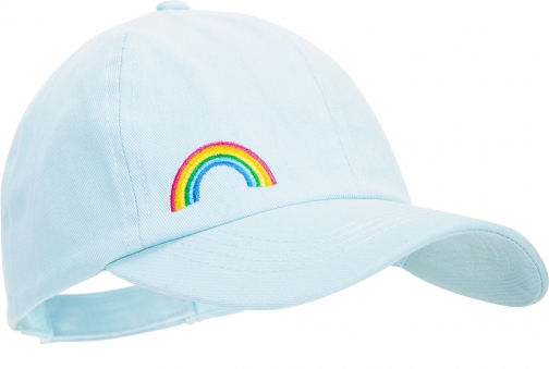 Mountain Warehouse Rainbow Embroidery Kids Baseball - Teal Cap