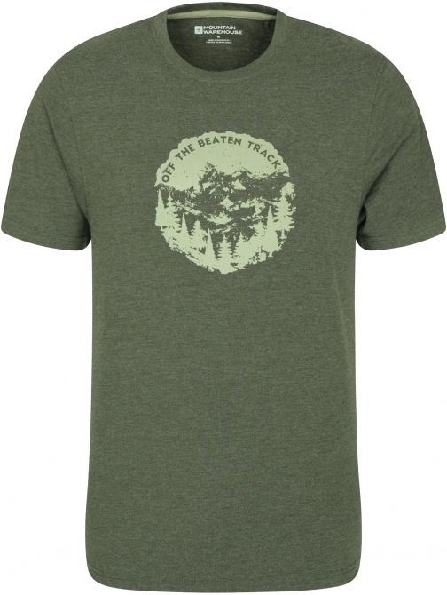 Mountain Warehouse Off The Beaten Track Mens Tee - Green T-Shirt