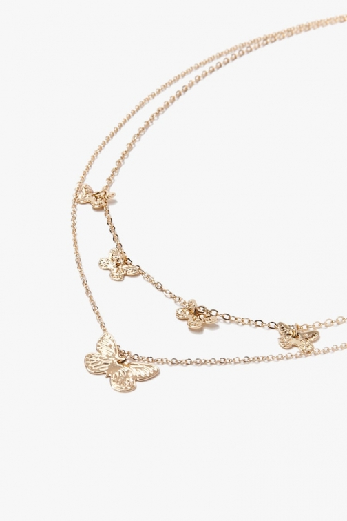 Forever21 Forever 21 Butterfly Charm , Gold Necklace