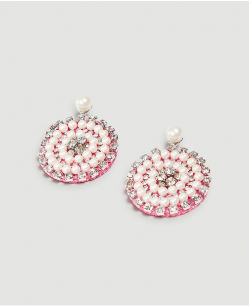 Ann Taylor Pearlized Pave Starburst Statement Earring