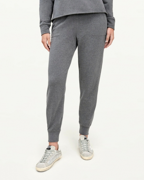 Splendid Womens Eco 100% Recycled Heather Charcoal - Size L Jogger