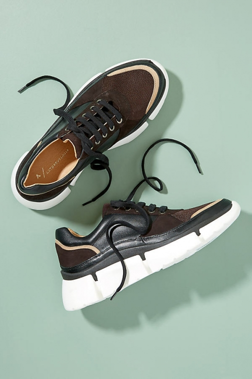 Anthropologie Charlie Leather And Suede Trainer
