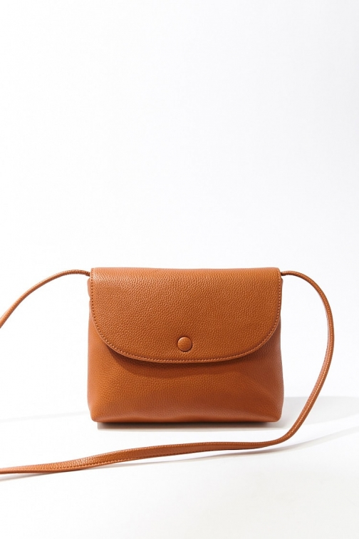 Forever21 Forever 21 Pebbled Faux Leather , Tan Crossbody Bag