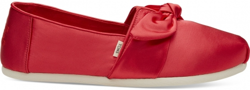 Toms Lava Satin Bow Women's Classics Slip-On Shoes