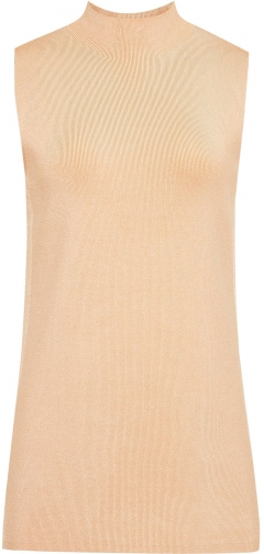 Reiss Luciana - Sleeveless Knitted Top Apricot, Womens, Size L Shirt
