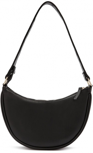 Forever21 Forever 21 Faux Leather Black Shoulder Bag