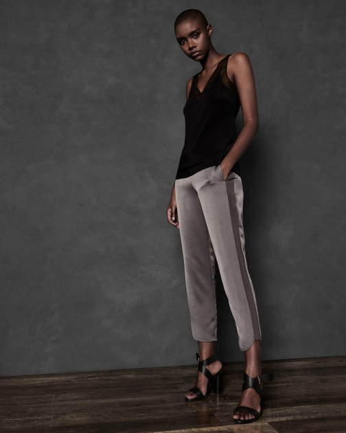 Ted Baker Satin With Side Knit Detail Jogger