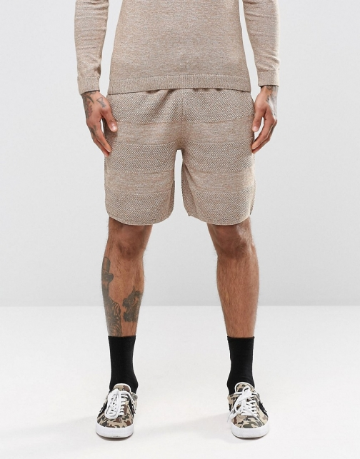 Asos Knitted With Textured Stitch Short