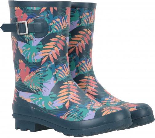 Mountain Warehouse Womens Printed Mid-Height - Green Welly