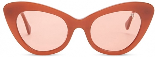 Forever21 Forever 21 MELT Cat Eye , Orange/orange Sunglasses