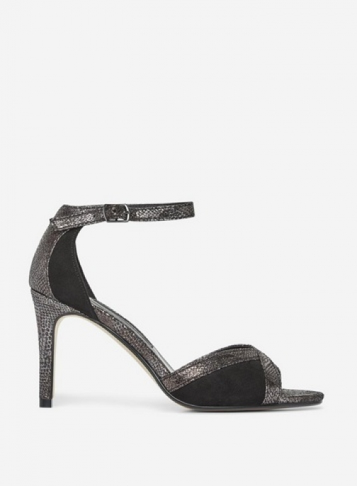 Dorothy Perkins Black And Silver 'Safi' Dipped Sandals