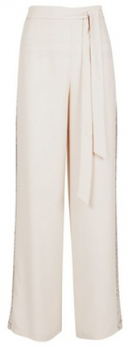 Dorothy Perkins Oyster Sequin Embellished Palazzo Trouser